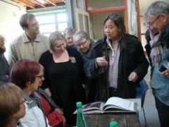 Visite de l'atelier dijonais de l'artiste chinois Yan Pei-Ming